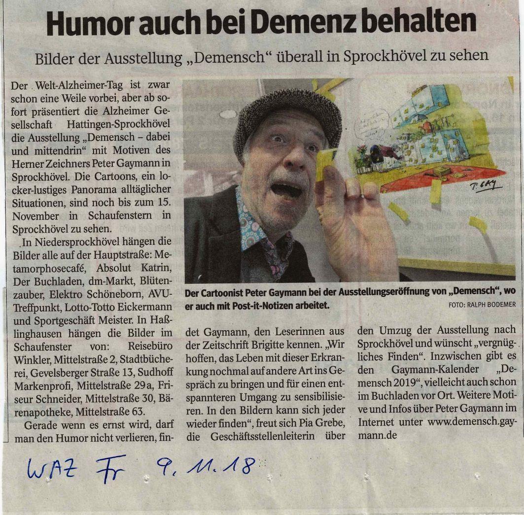 Demensch - Ausstellung jetzt in Sprockhövel